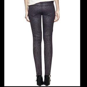 Tory Burch print black pants size 25